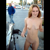 *GS Jennifer and Marcellina Get Gas