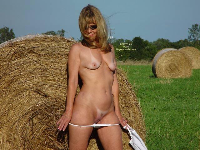 Pic #2 - Natasha Rolls In The Hay
