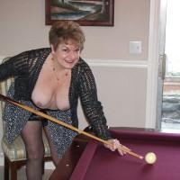 Granny Playing Pool