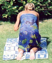Pic #3 - My Wife in The Backyard