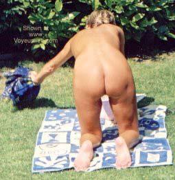 Pic #4 - My Wife in The Backyard