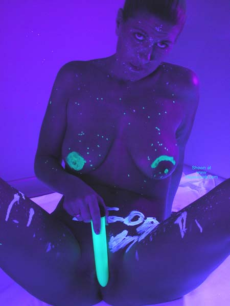 Pic #7 - Claire In Blacklight 1