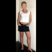 Blonde German 23 in Red Fishnets