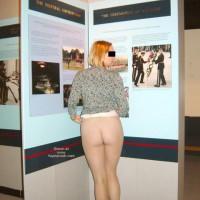 Flashing Ass In Museum