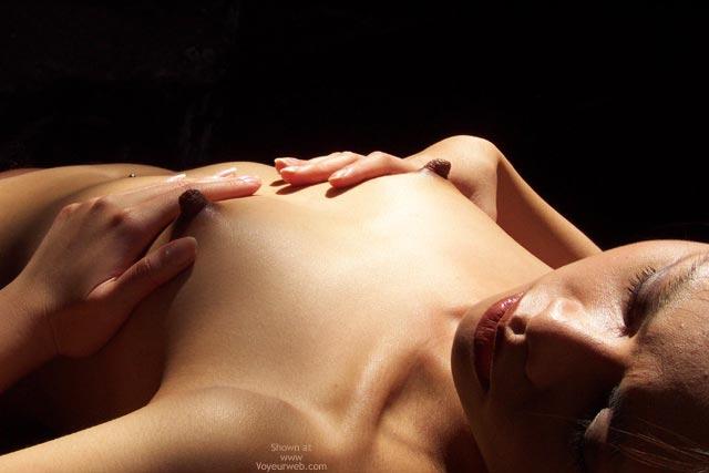 Pic #1 - Dark Nipples - Close Up, Dark Nipples , Dark Nipples, Cupping Tits, Very Erected Nipples, Closeup, Small Tits With Huge Nipples, Long Nipples, Dark Brown Nipples