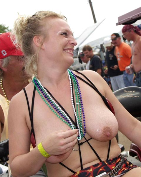 Pic #6 - Biker Rodeo Chick Swallows Her Nipples!