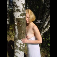 Beauty White Girl in Forest