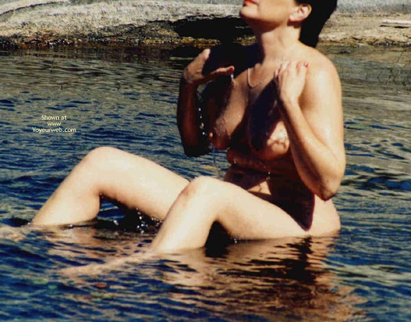 Pic #1 - Mrs.Cleaver Bathing At The Lake