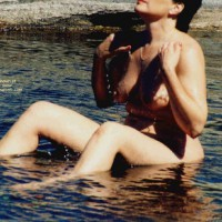 Mrs.Cleaver Bathing At The Lake