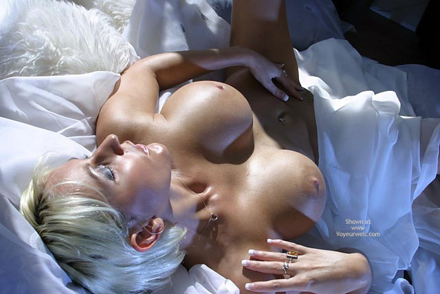 Pic #1 - Touching Herself - Bed, Blonde Hair, Touching Herself , Touching Herself, Tits And Pussy, Blonde, Up Side Down, Bed, Blond, View From The Top, Orgasmic, The Pleasure Of Skin