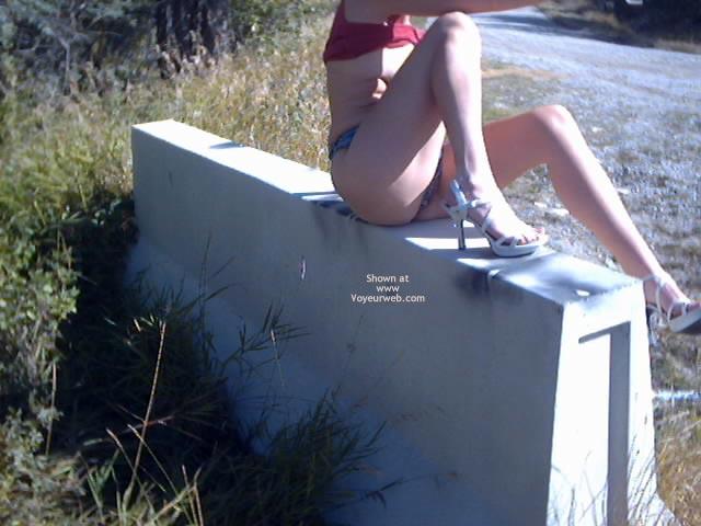 Pic #5 - Thong Shorts Outside