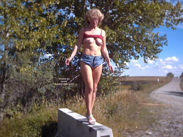 Pic #6 - Thong Shorts Outside