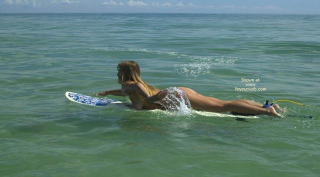 Pic #5 - Tsunami Merci Goes Naked Surfing