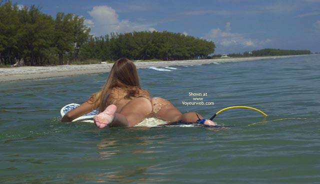 Pic #7 - Tsunami Merci Goes Naked Surfing