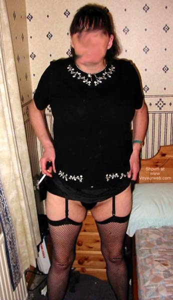 Pic #1 - My Wife in Fishnets