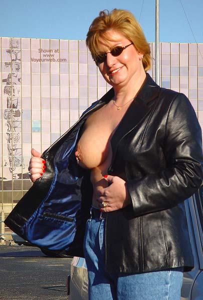 Pic #2 - NippleGirl Goes Public 1