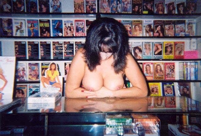 Pic #4 - Angie At The Playboy Store Part 2