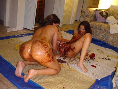 Pic #3 - *GG Two Girls with Chocolate Syrup Gets Messy