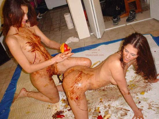 Pic #5 - *GG Two Girls with Chocolate Syrup Gets Messy