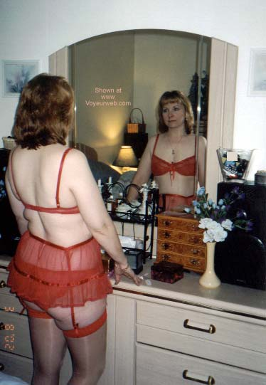 Pic #3 - LADY IN RED GETTING READY 1