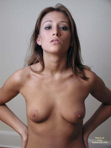 Pic #1 - Topless Facial Of A Brunette - Full Frontal Nudity, Small Tits, Sultry Look , Topless Facial Of A Brunette, Frontal Shot, Small Tits, Sultry Look