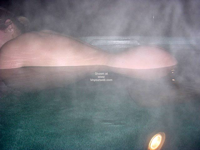 Pic #1 - Daphne in The Hot Tub On a Moonlit Spring Night