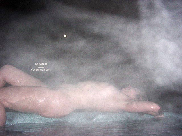 Pic #3 - Daphne in The Hot Tub On a Moonlit Spring Night