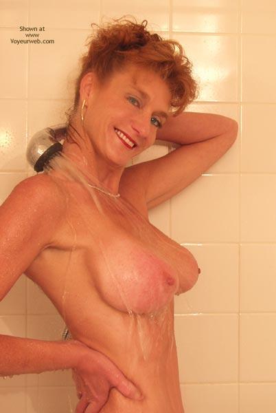 Pic #2 - *Sh Sandy Redhead Getting Wet!