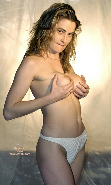 Pic #1 - Topless With White Panties , Topless With White Panties, Nipples Visible, Hand Full