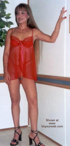 Pic #1 - Amber's Red Lingerie