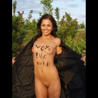 Shameless Advertising - Perky Tits, Trimmed Pussy, Naked Girl, Nude Amateur