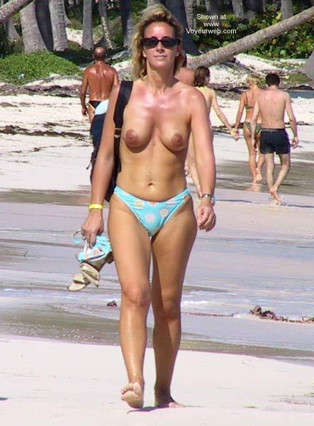 Pic #2 - Blonde on Beach Walk