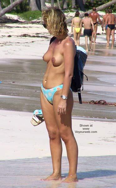 Pic #3 - Blonde on Beach Walk