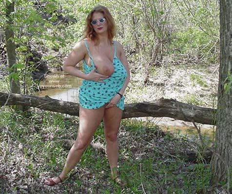 Pic #4 - Big Boobs Having Fun in The Sun!