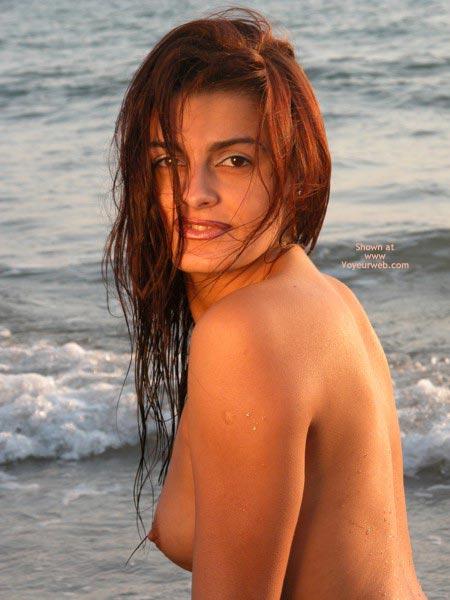 Pic #1 - Topless On Beach - Topless Beach , Topless On Beach, Penelope Cruz Look-a-like