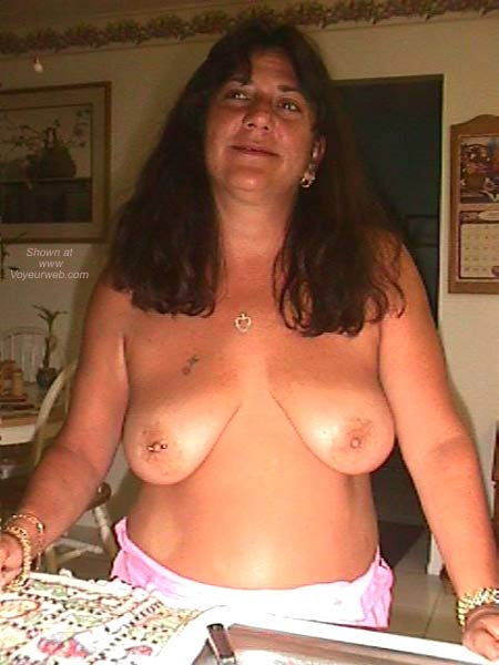 Pic #6 - Dee Gets Nipple Pierced