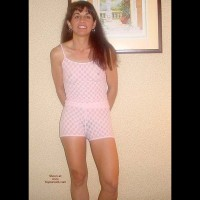 Brunette in Pink