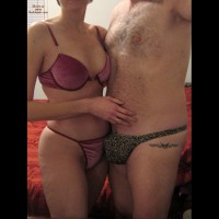 Lars Gets Laid In Her New Velvet Bra And Panties