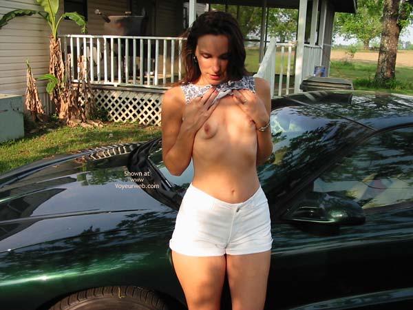Pic #4 - Celeste Posing Near The Car