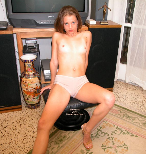 Pic #4 - Yevette In Front Of The Tv