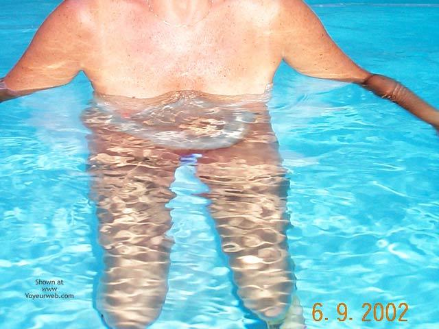 Pic #1 - Backyard Girl Goes Swimming
