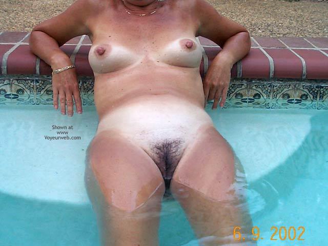 Pic #4 - Backyard Girl Goes Swimming