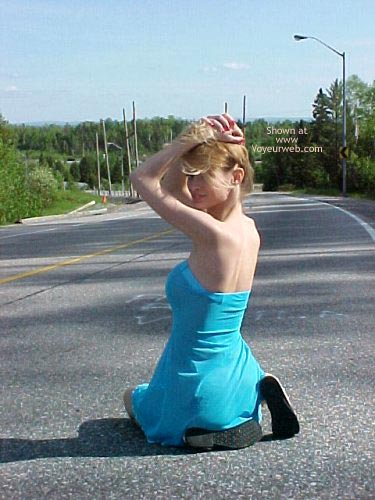 Pic #2 - Ami Gets Naked On The Road