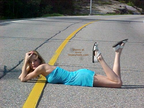 Pic #3 - Ami Gets Naked On The Road