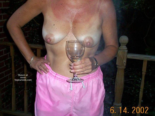 Pic #2 - Backyard Girl Having Fun On The Deck Again