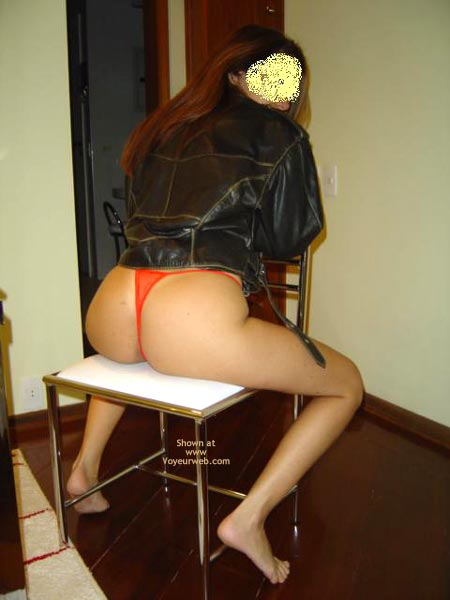 Pic #7 - Leather Jacket, Red Panty