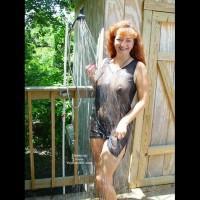 Dani in Wet Lingerie