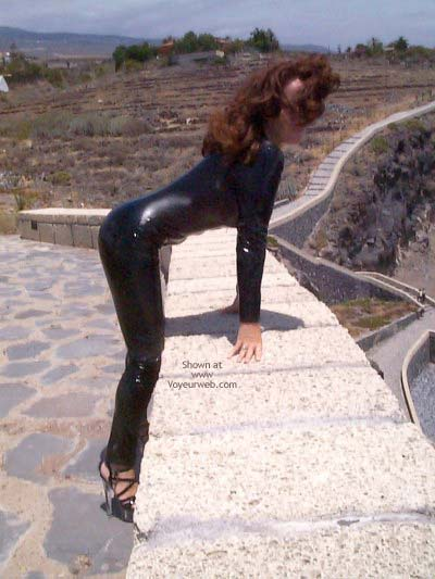 Pic #1 - Latex Catsuit On The Beach