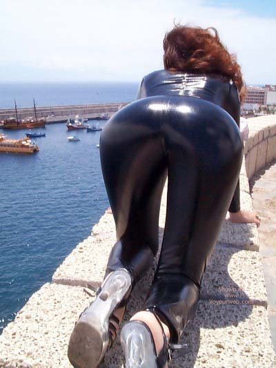 Pic #3 - Latex Catsuit On The Beach