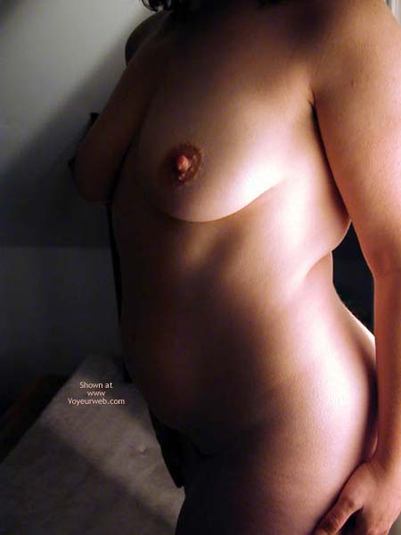 Pic #3 - OH Wife Hard Nipples, Shadows & Curves